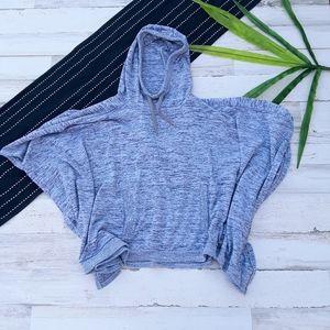 Athleta| Blissful Poncho Heathred Gray Hooded S